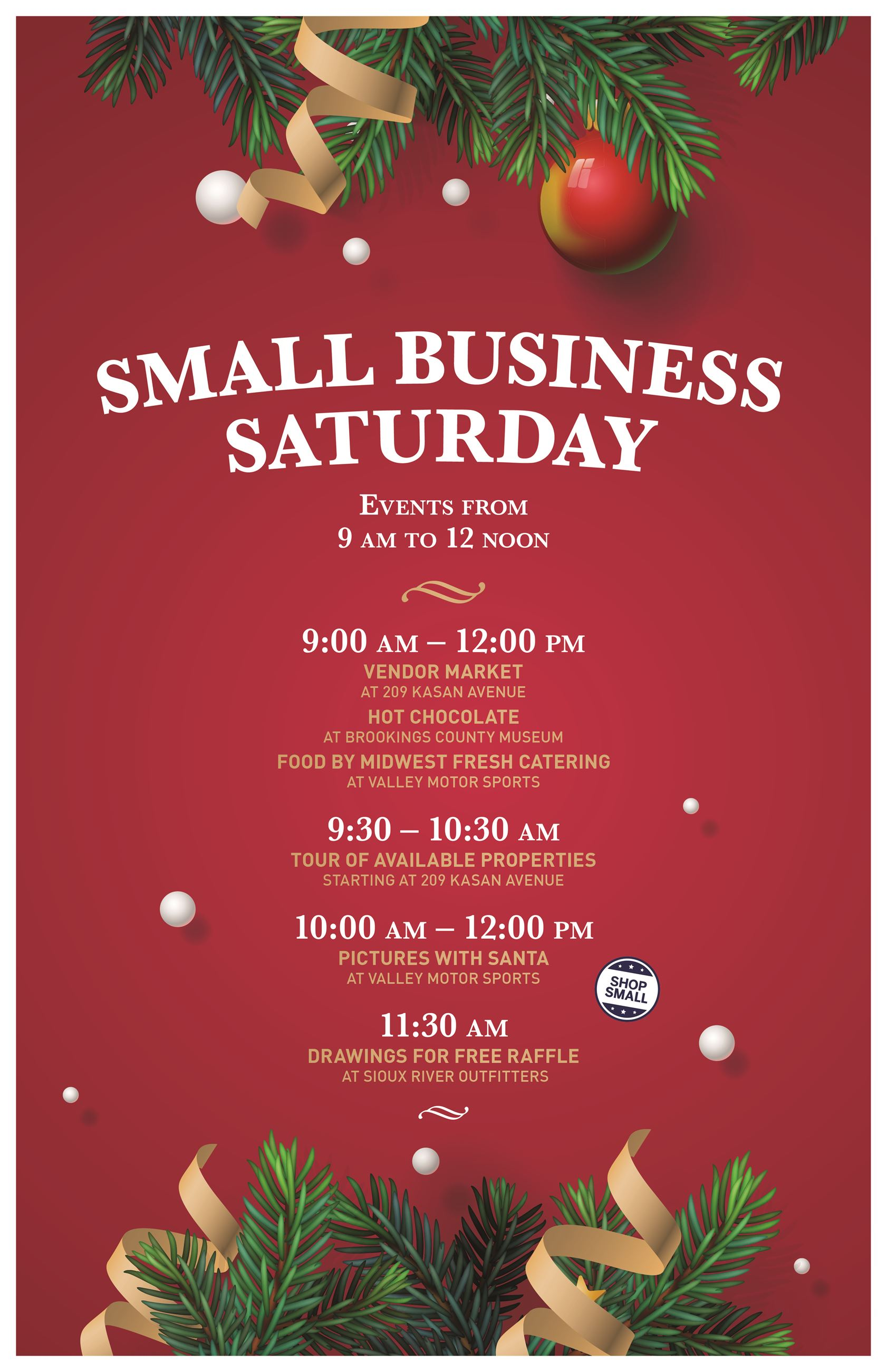 114388 City of Volga Small Business Saturday Poster
